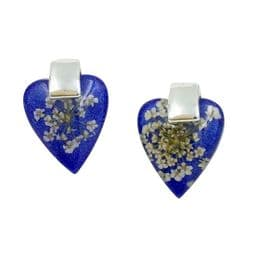 Nightingale Navy Heart Earrings