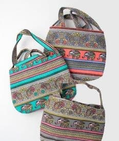 Organic Cotton Paisley Shoulder Bag