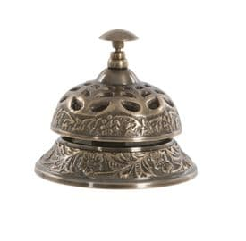 Ornate Desk Bell (Vintage Brass)