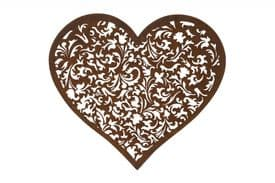Ornate Heart Wall Plaque