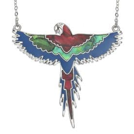 Red Flying Macaw Necklace