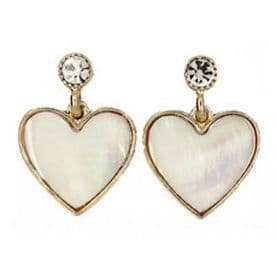 Shine On Mother of Pearl Heart Earrings