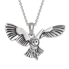 Silver Plated Barn Owl Necklace