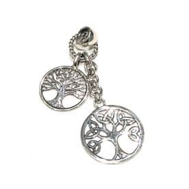 Sterling Silver Dual Tree of Life Necklace