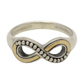 Sterling Silver Infinity Ring (Gold Plated)