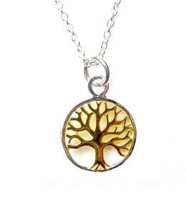 Sterling Silver Tree of Life (Gold Tone)