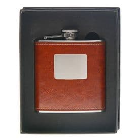 Stylish Hip Flask - Brown (6oz / 170ml)