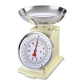Terraillon Traditional Mechanical Kitchen Scales - Cream