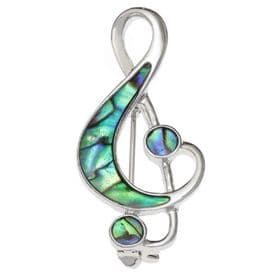 Treble Clef Music Note Brooch Pin