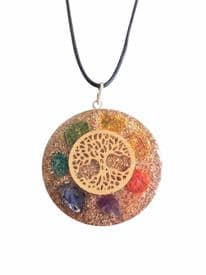 Tree of Life Orgone Orgonite Chakra Necklace