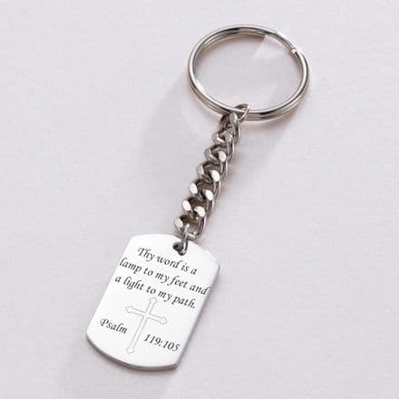 Catholic Keyring with Engraving