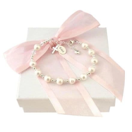 Personalised Rosary Bracelet with Freshwater Pearls