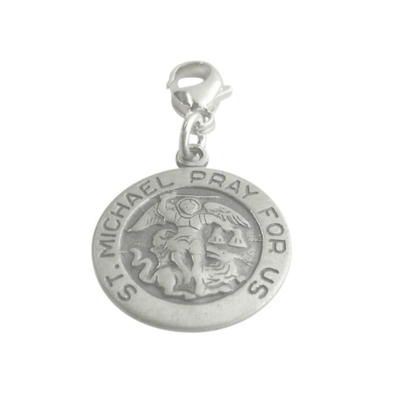 Catholic Saint Michael Charm on Lobster Clasp | Heaven's Blessings