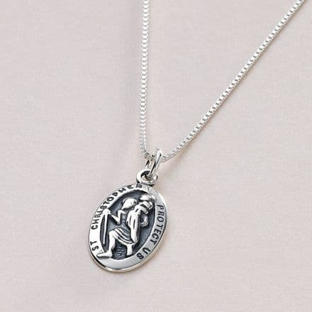 Silver Saint Christopher with Optional Engraving