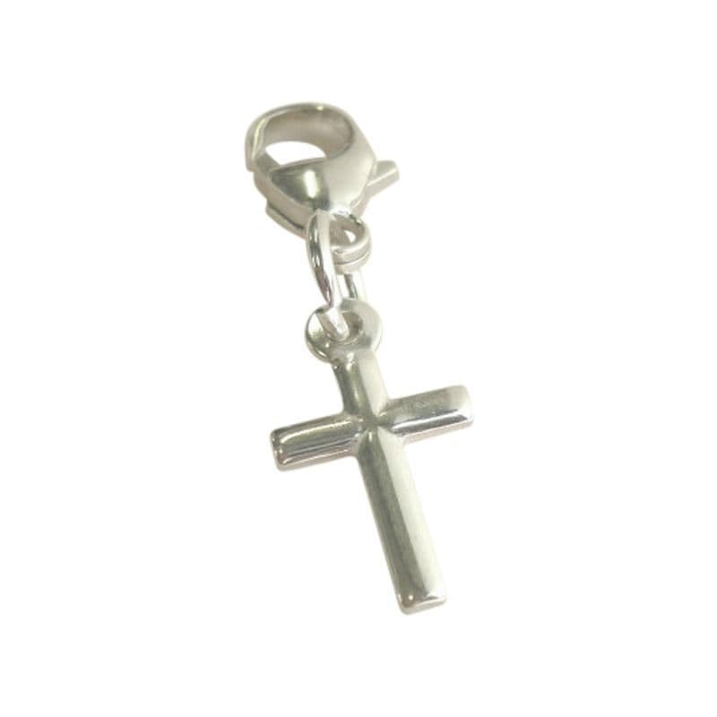 Catholic Simple Cross Charm on Lobster Clasp | Heaven's Blessings