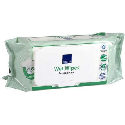 Abena Unscented Wet Wipes (1 pack of 80)