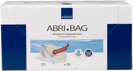Abri-Bag Disposable Absorbent Commode Liner - 20 per pack