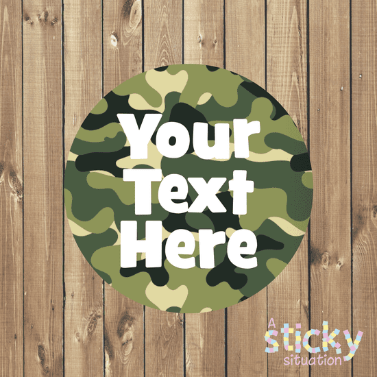 Personalised Customisable Stickers - Camouflage Design
