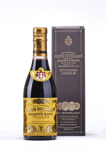 "Giuseppe Giusti - Balsamic Vinegar of Modena PGI - 4 Gold Medals ""Quarto Centenario"" 250ml"