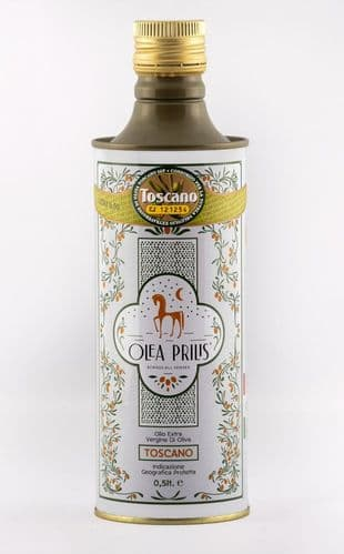 Olea Prilis - Organic Tuscan PGI Extra Virgin Olive Oil 500ml tin