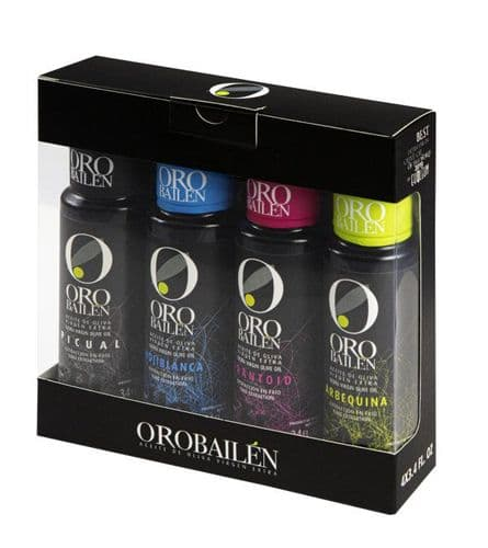 Oro Bailen - Gift  Set 4x100ml Extra Virgin Olive Oil