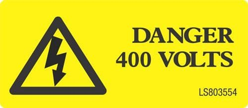 Danger 400 Volts with Triangle - LS803554