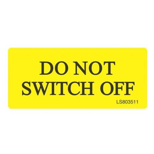 Do Not Switch Off - LS803511