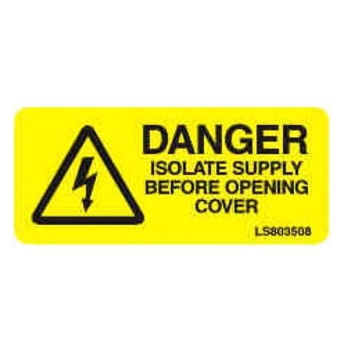 Warning Isolate Supply Before - LS803508