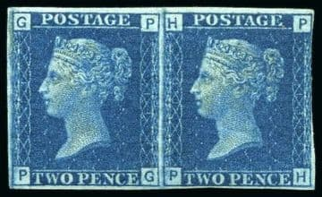 1 GB stamp, 1869, Queen Victoria SG46a, 2d Blue Plate 13,  Ex Stanley Gibbons Investments