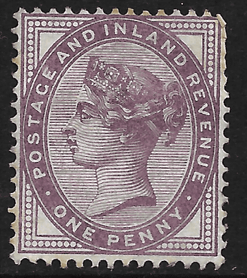 GB stamp, 1881, Queen Victoria SG172 1d, Lilac - Mint