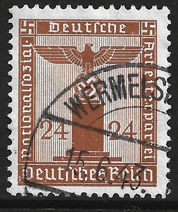 Germany stamp 1938, Third Reich, Officials, SG-O806, 24pf, brown, used