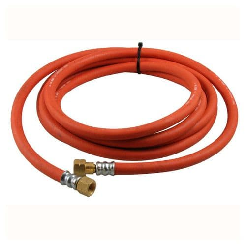 """1/4"""" x 5M Acetylene Fitted Hose - 6MM"""