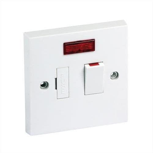 13A DP Switch Fused with Neon White