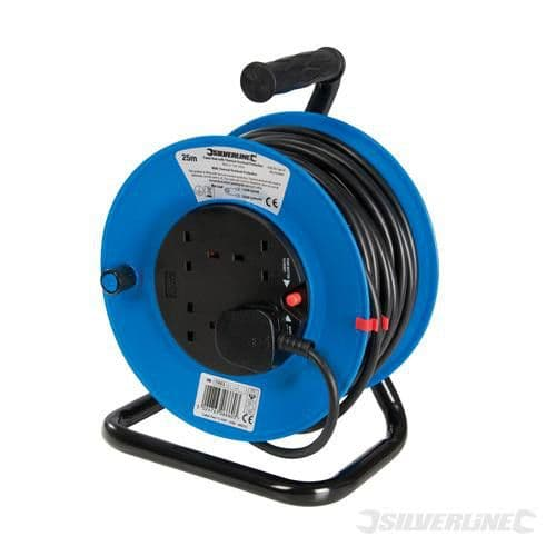 240V - Cable Reel Extension Lead - 50m - 4 Sockets
