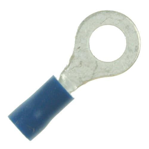 Blue Crimp 6mm Ring-Bag of 100