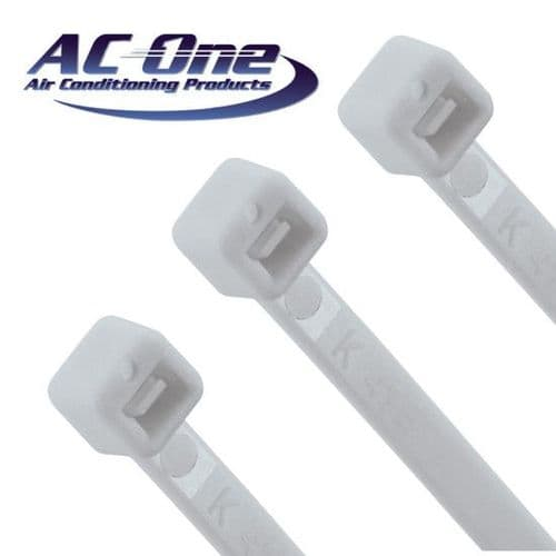 Cable Tie - White 7.6 x 370 pack of 100