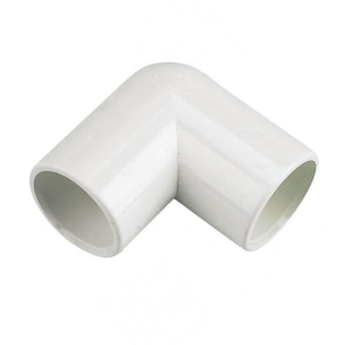 FloPlast Overflow Bends 90° White 21.5mm