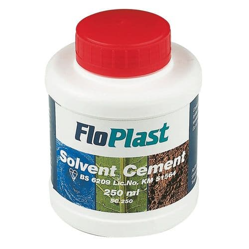 FloPlast Solvent Cement 250ml - Box of 12