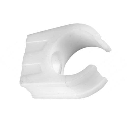 FloPlast White Overflow Drain Wall Clips 21.5mm 10 Pack