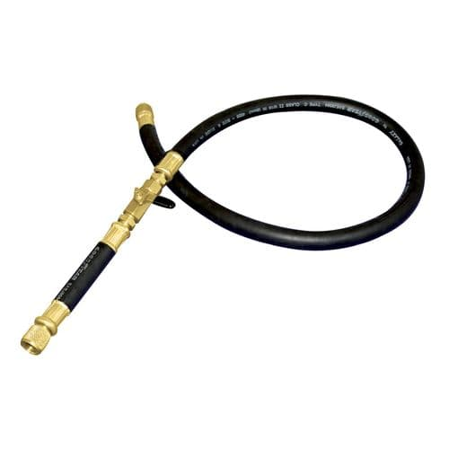 "Mastercool 3/8"" Vacuum Hose with Ball Valve 150 cm"