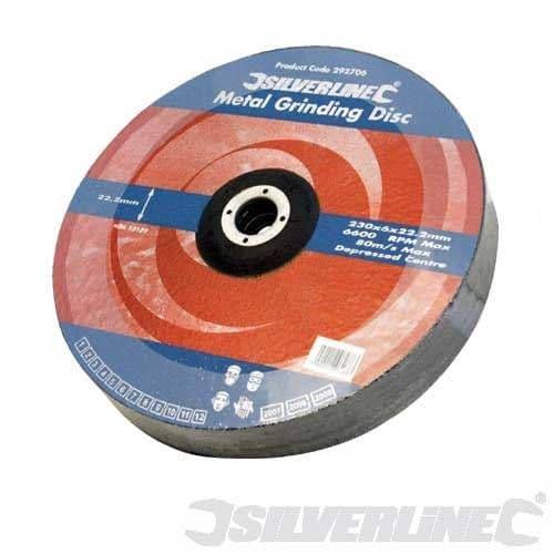 Silverline Metal Grinding Disc - 100 x 6 x 16