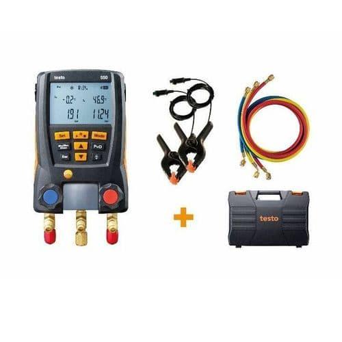 Testo 550 Digital Refrigeration Manifold Set 0563 2551