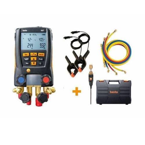Testo 557 Digital Refrigeration Manifold Set 0563 2558