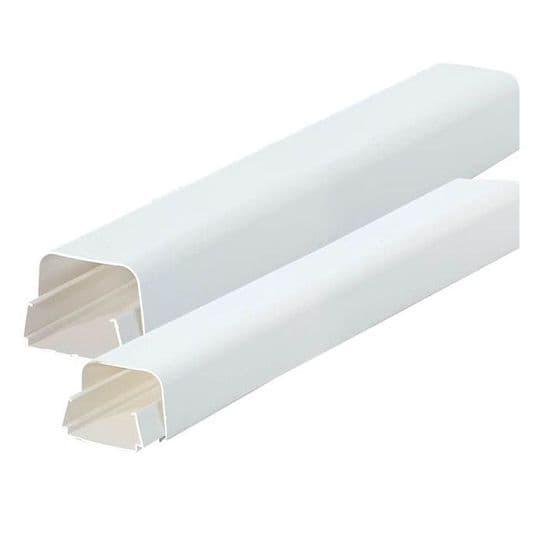 White Plastic Trunking & Fittings 80mm x 60mm