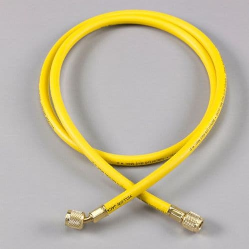 "Yellow Jacket Plus II 1/4"" Refrigeration Charging Hose Yellow 36"""
