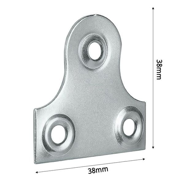 Nickel Plated Picture Plate Hanger 38mm Wide
