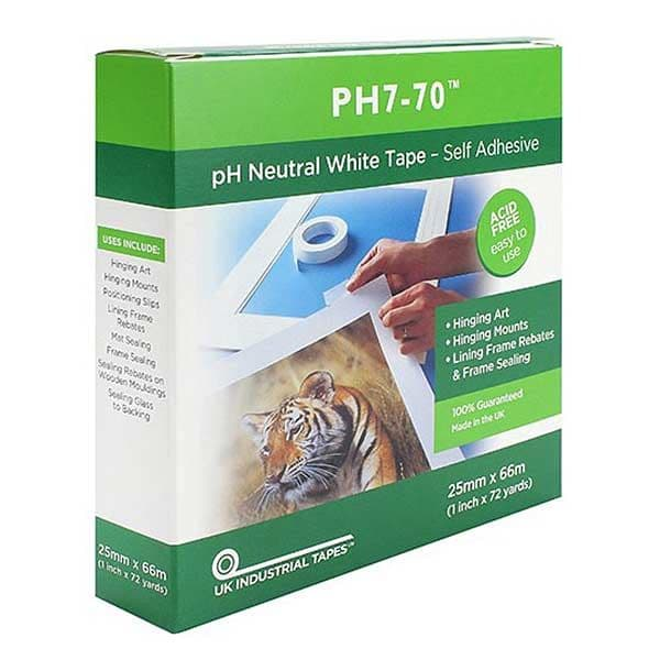 Self Adhesive pH7-70 Conservation Mounting Tape 25mm x 66m