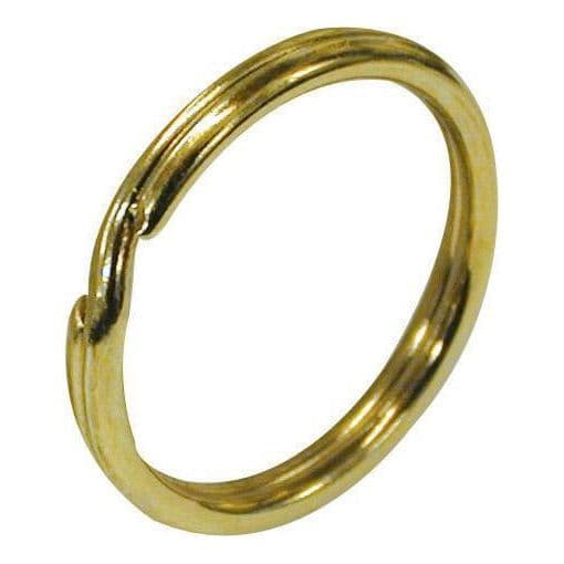 Split Rings (Key Rings) - Brass Plated 16mm