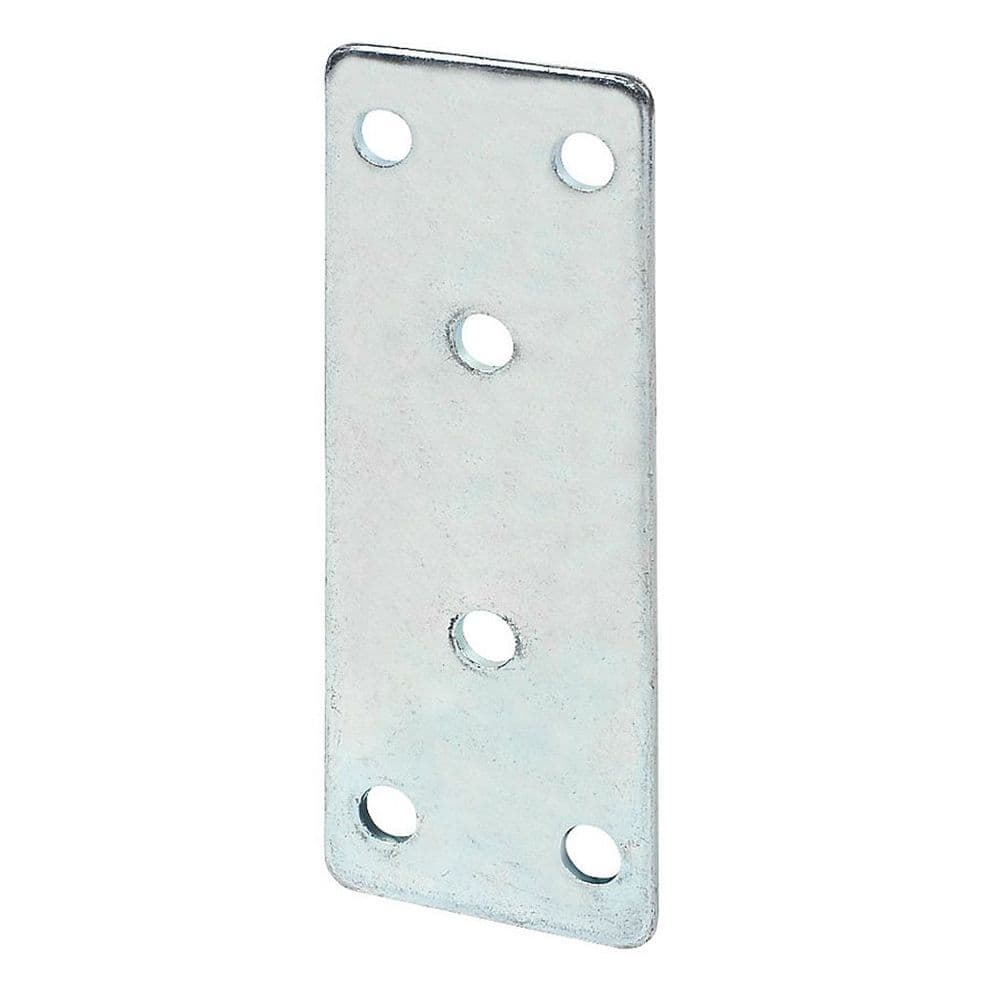 Straight Joining/Reinforcement Plate Zinc Plated (Large) 97mm x 35mm