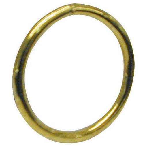 Welded Steel Rings - Brass Plated 30mm
